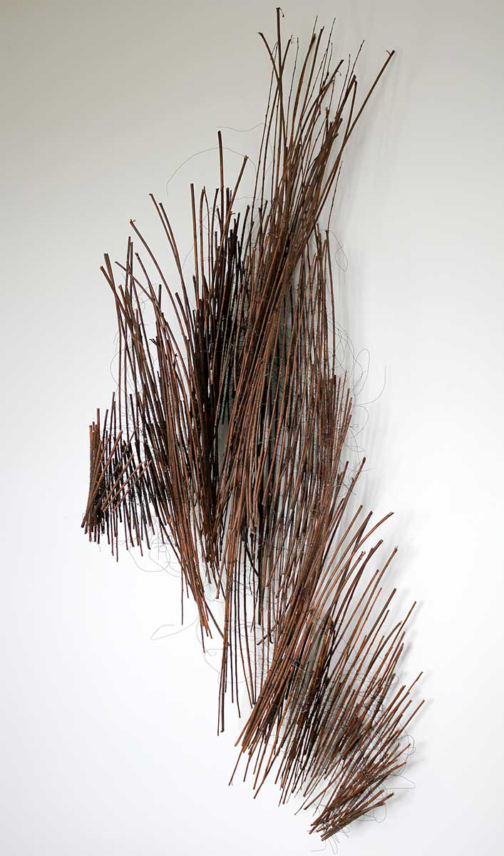 ADRIFT | Willow and wire. W60cm x H150cm x D38cm. Photo: Ann Goddard.