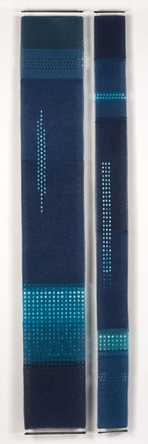 SUBTERRANEAN LIGHT   Layered, handcut textile hanging
