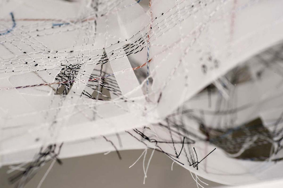 STUDY 2 (detail) | Transparency, fragility, resilience and ethereal qualities have been explored in different ways to create layers and complex network structures.