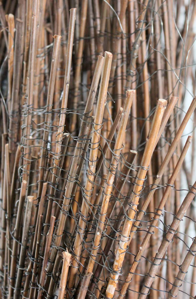 ADRIFT (detail) | Willow and wire. W60cm x H150cm x D38cm. Photo: Ann Goddard.
