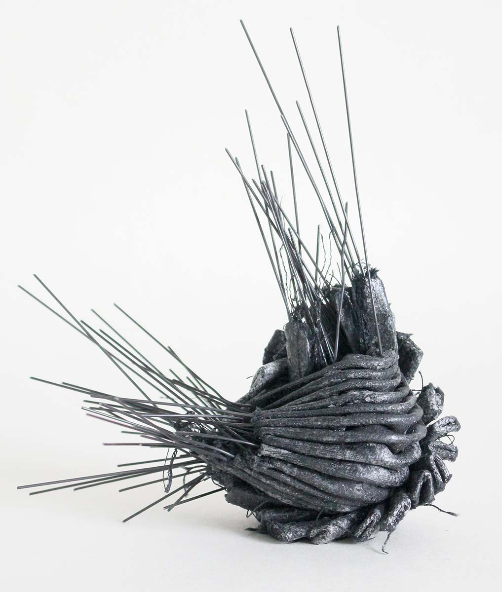 HUSK | Cotton fabric, wax, wire. W16cm x H16cm x D12cm. Photo: Ann Goddard.
