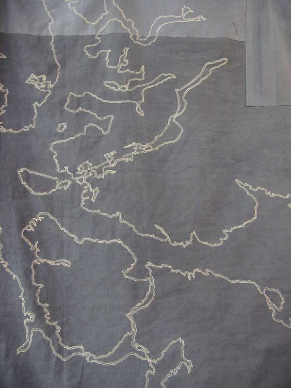 BATTLE OF NARVIK | 2010-11, 170cm x 105cm, dyed, patched, machine and hand stitched linen and cotton