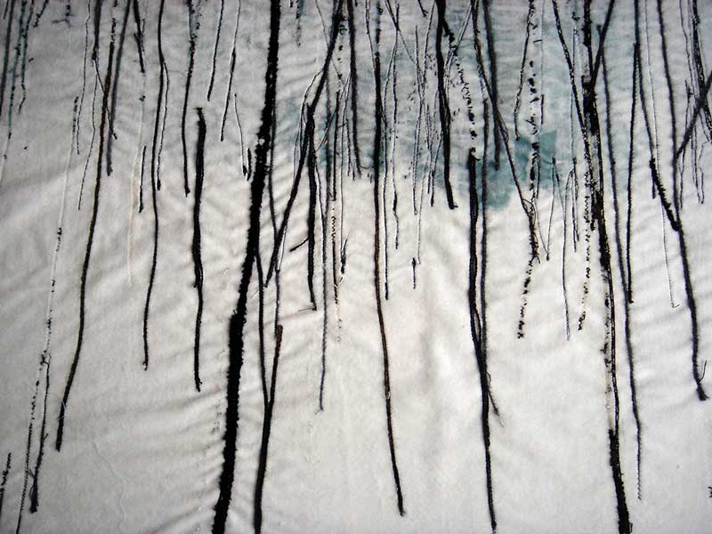 TAIGA | 2004, 50cm x 100cm, dyed and machine stitched velvet