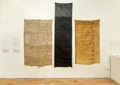 Debbie Lyddon | (left) Ground Cloth - Chalk, (centre) Ground Cloth - Seacoal, (right) Ground Cloth - Yellow Ochre