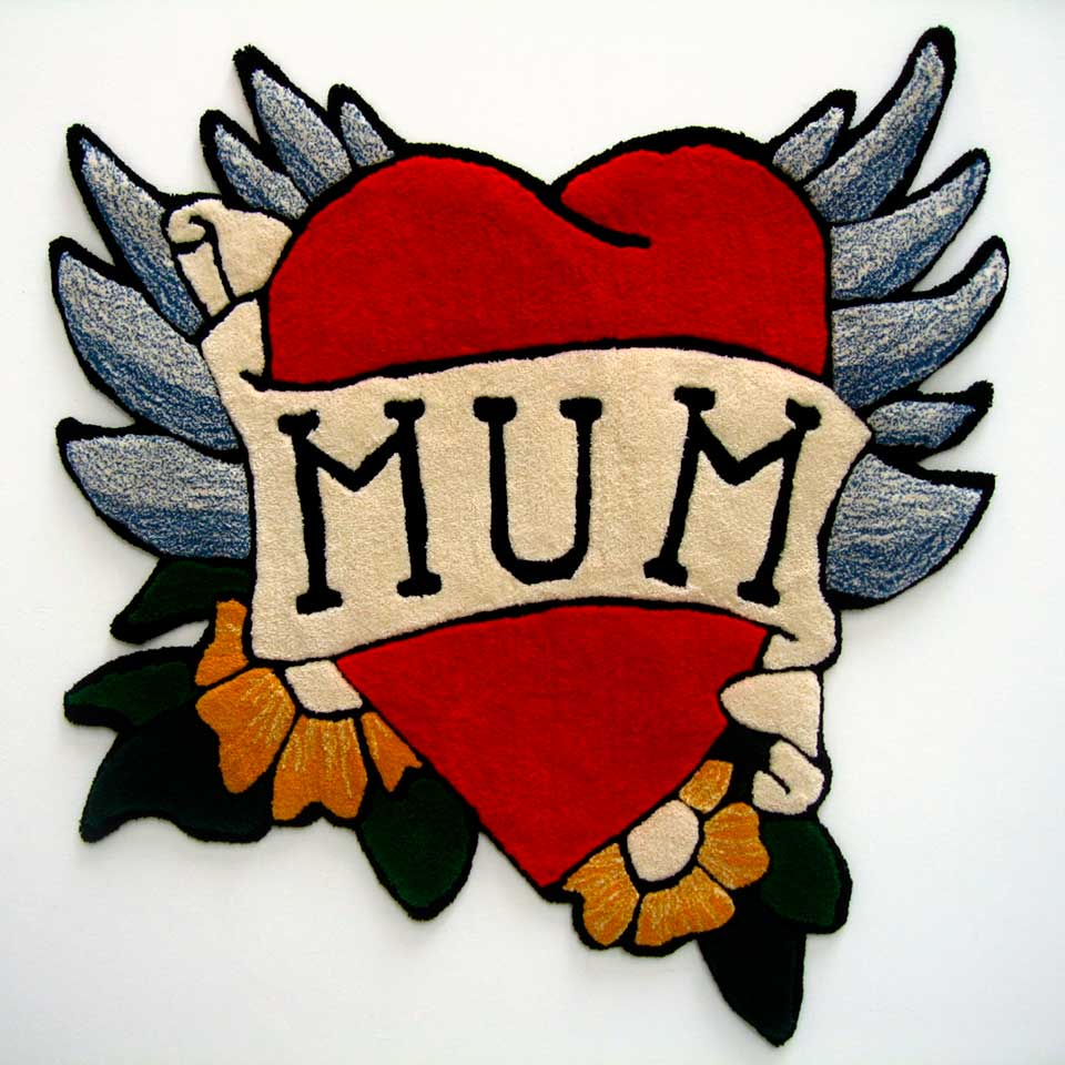 UNTITLED (MUM) |Hand tufted Axminster yarn 1.5m x 1.65m