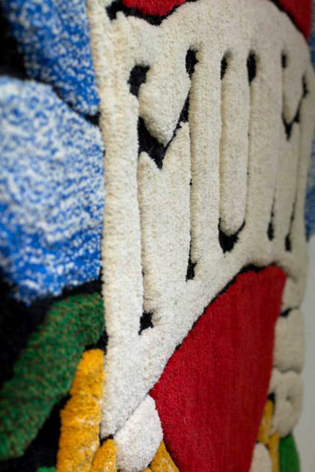 UNTITLED (MUM) | Hand tufted Axminster yarn (detail).