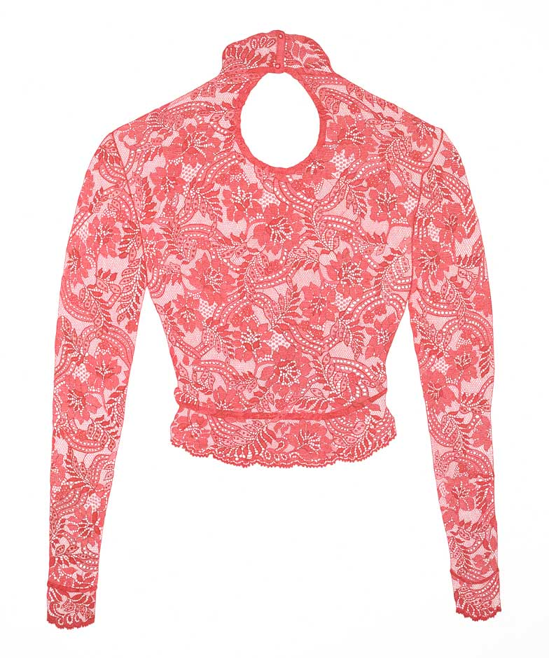 RED LYCRA LACE TOP | Ink on paper (2016) 67 x 86cm