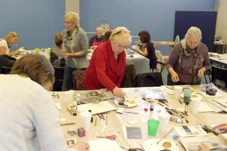 A Weekend Surface Textile Master Class Led by 62 Group Artist Elizabeth Couzins Scott.