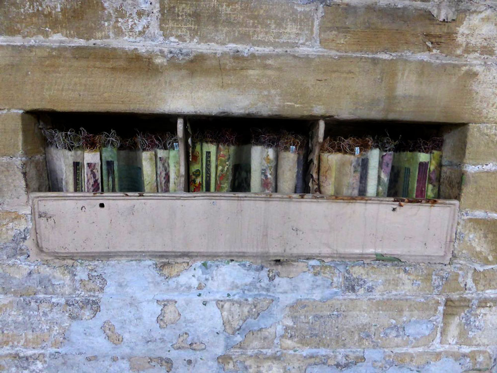 DETAIL | Set of cloth books for 'Cloth & Memory II', various sizes approximatley 19cm x 8cm x 16cm each.