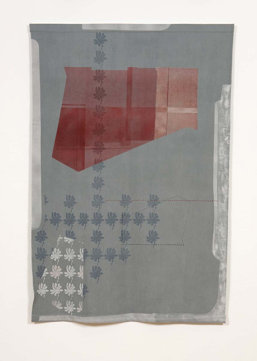 HIDDEN TRUTHS | Dyed and screen-printed wool; 134cm x 200cm; Photo: Ruth Clark