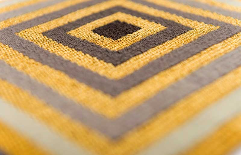 THE STREETS ARE PAVED WITH GOLD (detail) | Wool & gilt gold thread. Photo: Steve Speller