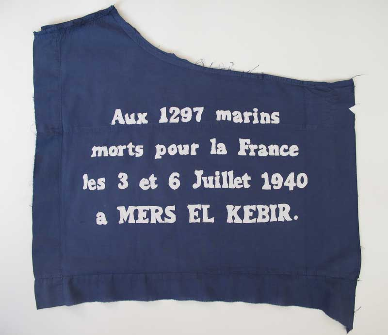 MERS EL KEBIR | 2012, 45cm x 40cm, dyed, and hand stitched cotton