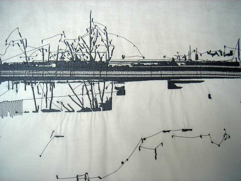 KRANSNOYARSK |2004, 40cm x 90cm, Digital stitched linen and cotton