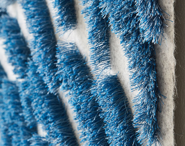 MURMURATION I (Detail) | 2017 wool, thread tufted. 145cm x 220cm. Camera: Yeshen Venema.