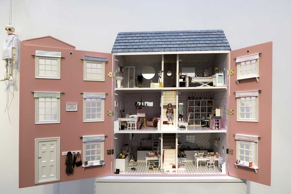 SECRET LIFE OF AN EATING DISORDER, 2018 | Materials:	Dolls house, dolls house furniture, miniatures, textiles, paper |Technique: Varied.