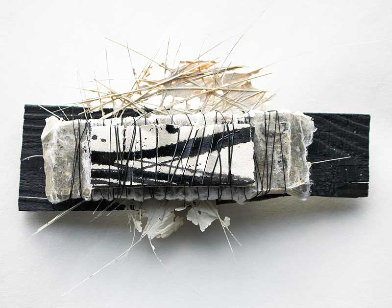 ASSEMBLAGES (Detail) | Wood, paint, fibres, paper, wire, thread : 1 of 16 small units. Photo: Ann Goddard
