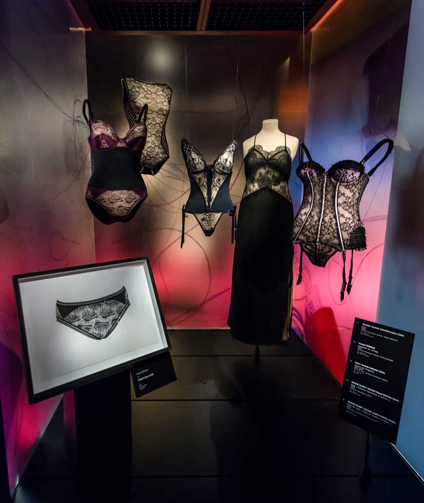 FRENCH ERES BRIEFS | Exhibited in the Museum of Lace and Fashion, Calais, France in 2016 with the original Eres lingerie.