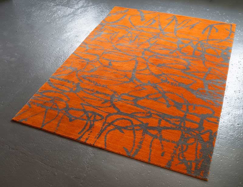 DANCE AMBER, 2013 | 100% wool Hand knotted rug 170 x 250cm Photographer; Anthony Coleman