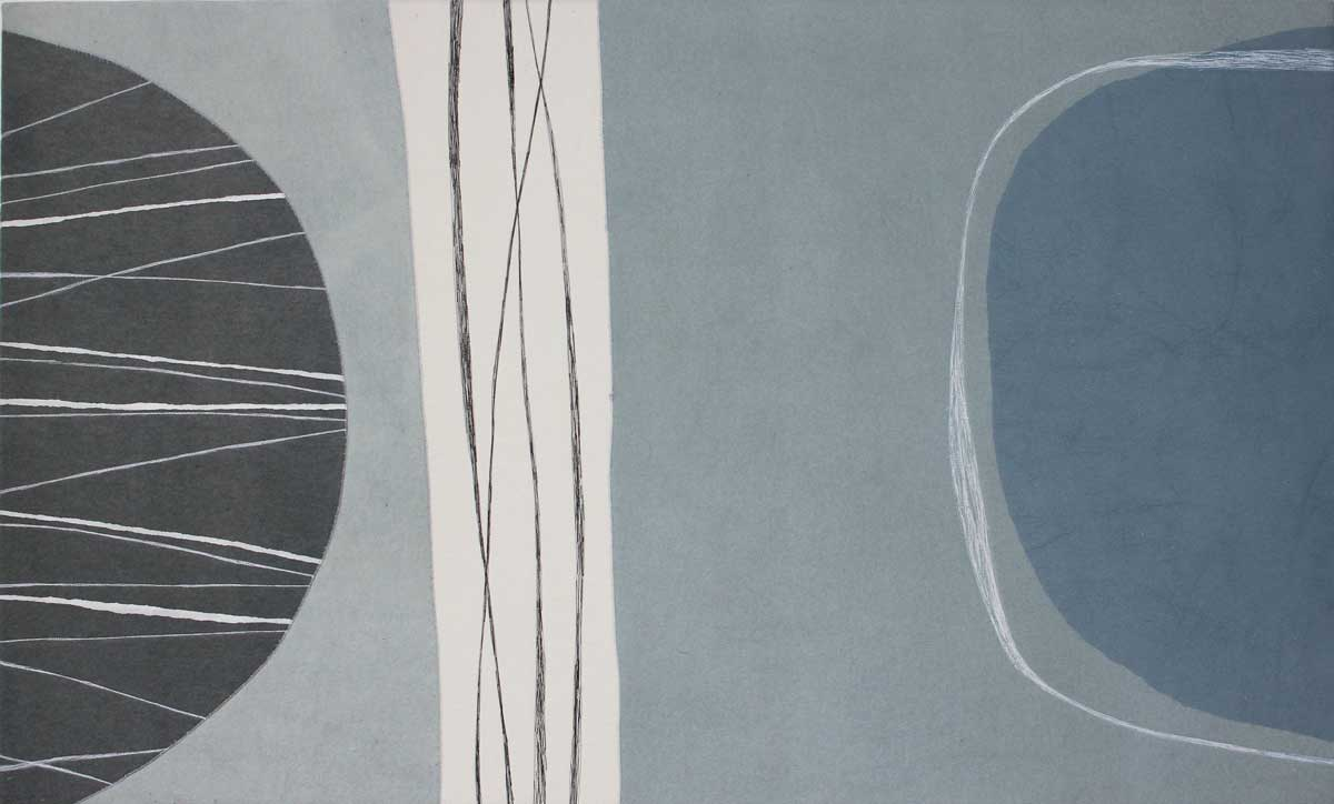 <strong>SHADOW II FELT</strong>, 2011 | Printed, stitched and dyed felt wall hanging,170 x100cm.