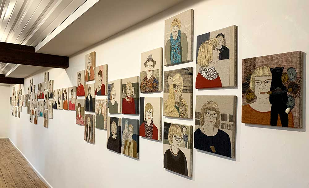 Installation of 66 SELF PORTRATS at The Ropewalk, Barton on Humber