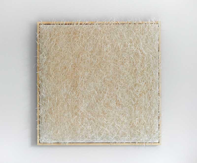DÉNOUEMENT 2016 | Materials: silk, paper Technique: handwoven | Size: 75cm x 75cm x 3cm | Image credit: John Hesford.