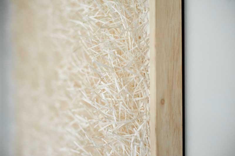 DÉNOUEMENT (detail) | Materials: silk, paper Technique: handwoven | Size: 75cm x 75cm x 3cm | Image credit: John Hesford.