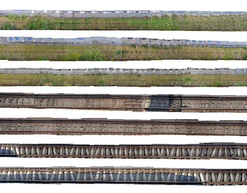 TRAIN TRACK STUDY |  2017, photograph with digital manipulation, 30 x 30cm.